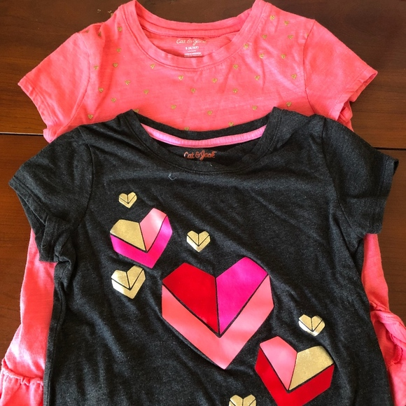 Cat & Jack Other - 2-for-1 tee shirts hearts